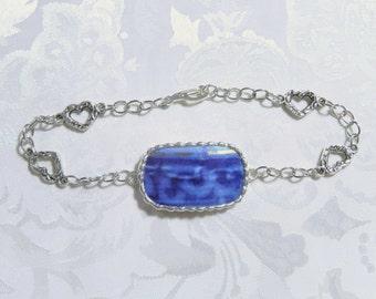 Broken Flow Blue China Bracelet