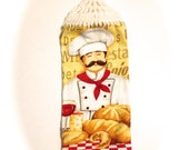 Pastry Bread Chef Hand Towel With White Crocheted Top