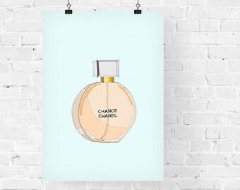 Chanel Chance Perfume Fashion Illustration Art Print
