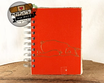 Hog Wild - Wire-Bound Recycled Art Journal
