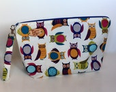 Owly Print Knitting Project Bag