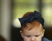 Denim Headband // Baby Knot Headband // Knotted Hipster Baby Headband  // Headwrap // Chambray // Boho Headband // Baby Headband //
