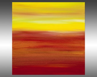 Sunset 53 - Abstract Landscape Painting, Original Modern Art Painting, Abstract Canvas Wall Art, Sunrise Sunset