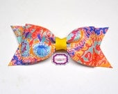 """Written in the Sun ~ 3.5"""" Hairbow ~ Lilly Inspired ~ Small Hair Bow ~ Girls Barrette ~ Toddler Bow ~ Hair Clip ~ Girls Hair Bow"""