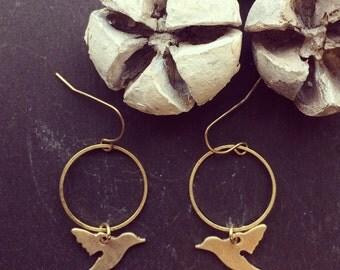 Sun Bird earrings