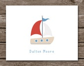 Sailboat Cards - Note Cards - Notecards - Thank You - Boat - Nautical - Sea - Ocean - Summer - Cruise - Set of 8