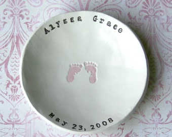 Personalized Footprint Bowl