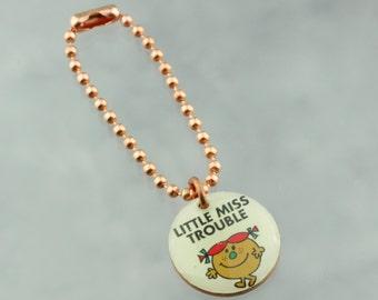Little Miss Trouble Planner Charm, Traveler's Notebook Charm, Purse Charm, Happy Planner Charm