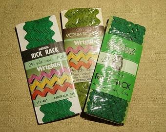 Vintage Green Cotton Rick Rack
