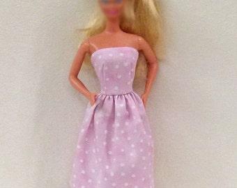 "Pink Handmade 11.5"" fashion doll dress"