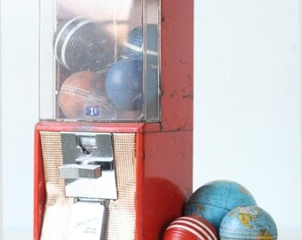 Vintage Gumball Machine, Northwestern Red Gumball Machine