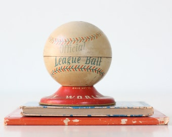 Vintage Baseball Bank, Void, Ohio Art