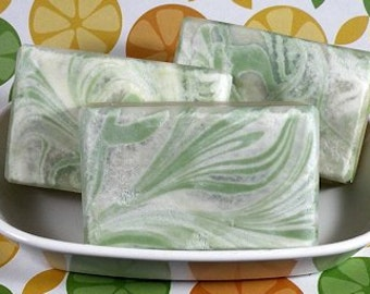 FIZZY POP Cold Process Soap with Olive Oil and Shea Butter - Vegan (smells like lemon lime soda) - CLEARANCE