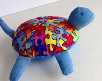 Autism Awareness Toy Turtle/Pincushion