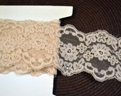 Vintage Trim Ecru Lace 4 inches wide Wild Roses 5 yards