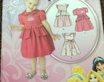 ON SALE Sewing Pattern Simplicity 1671 Girl's  Dress Size 1/2 -4 Uncut Complete