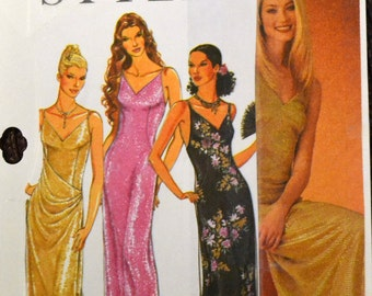 Sewing Pattern Simplicity 9030 Misses' Evening Dress Size 6-16 Bust  30-38 inches  Uncut Complete