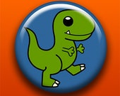 T-Rex - Button / Magnet / Bottle Opener / Pocket Mirror / Keychain - TRex Dinosaur Cute - Sick On Sin