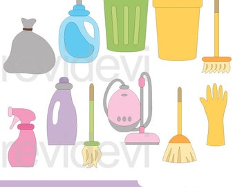 Cleaning appliances clipart - cleaning clip art, digital images - commercial use, instant download