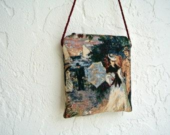 Victorian Summer Purse , 1800's Nautical Cross Body Purse , Shoulder Bag , Crossbody Handbag , Small Pocketbook , Gift for Her Under 50