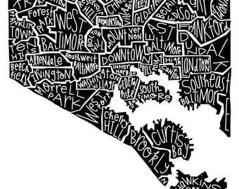 Baltimore Neighborhood Print