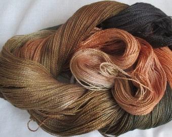 Handpainted 5-2 Egyptian Cotton Yarn    BLACK HILLS GOLD-525 yds.