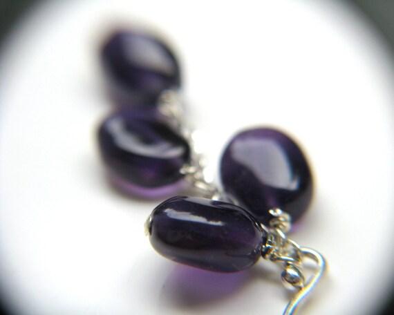 RESERVED Custom Amethyst Cascade Pendant Necklace and Bracelet Set