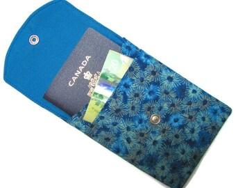 PASSPORT CASE, passport cover, travel wallet, snap closure, two pocket, optional adjustable cord, Australian sun I