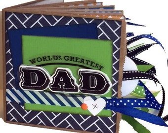 Greatest Dad Scrapbook - Paper Bag Album - Father's Day Scrapbook - Premade - Ready to Ship
