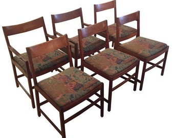 Vintage Danish Modern Chairs - Set of 6