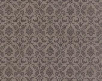 Black Tie Affair - Moda Fabric - Half Yard - Fleur De Lis Gray Grey Floral Quilting Fabric Cotton Fabric Basicgrey Basic Grey Gray 30421 15