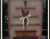Primitive Wood Shelf Sitter Heart Stacking Boxes Home Decor Valentines Decoration