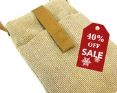 40%off Holiday Sale! Padded iPhone 4S 4 5 Cell Smart Phone Sleeve Mini Pouch Sunbrella canvas Wall Charger Pocket with BONUS Wrist Strap