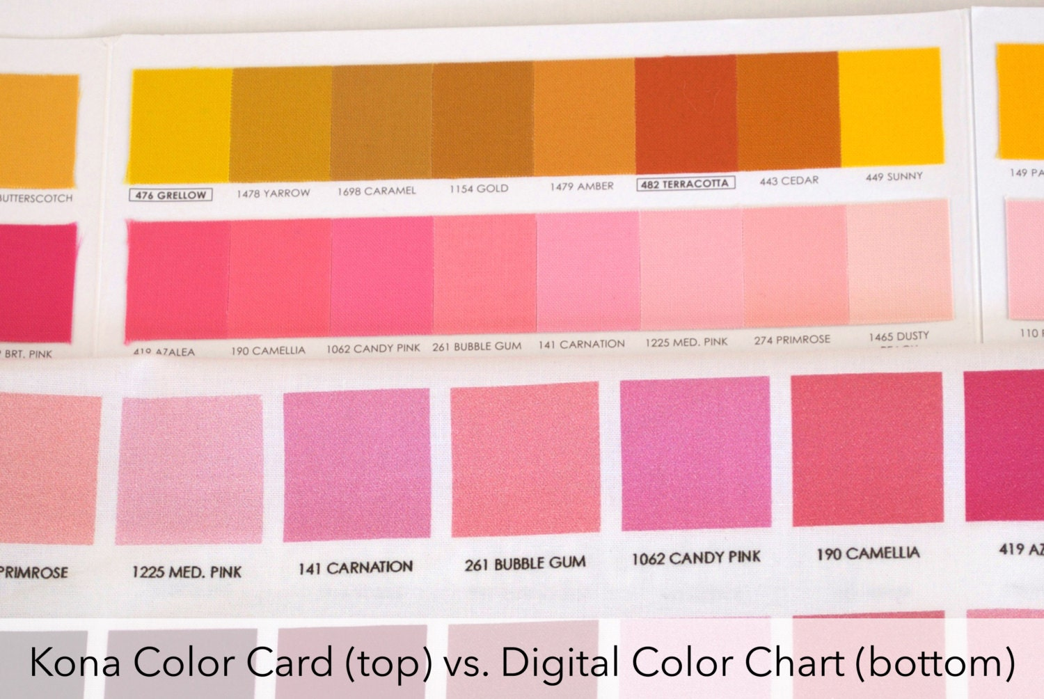 Fat quarter sale kona color chart digitally printed color chart 150 nvjuhfo Images