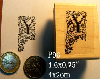 P96 Letter Y monogram rubber stamp