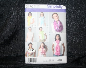 Simplicity 2170 Scarves Sewing Pattern, Fashion Wear, Spring,Summer,Fall & Winter Scarf,Ladies,Misses,Teen Neck Wear,Holiday gift, SEWBUSY12