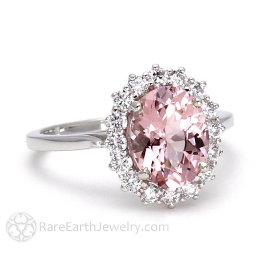 Morganite Engagement Ring Pink Morganite Ring Conflict Free