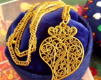 Heart of Viana filigree small Portuguese necklace-Get home page Coupon