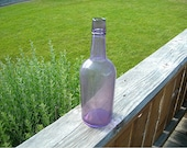 Antique Sun Purple Whiskey Bottle, Early 1900s, 10-1/2 Inches Tall, Collectible Amethyst Glass Liquor Bottle