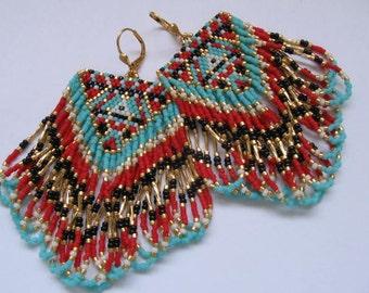 Native American Inspired Fringe Earrings - Copyright - Patti Ann McAlister 2015