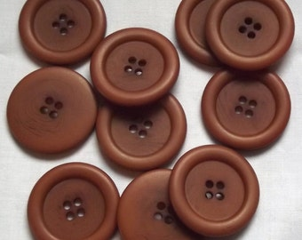 Brown buttons, 34mm x 2