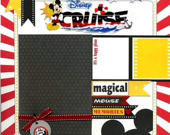 Disney Cruise  - Premade Scrapbook Page
