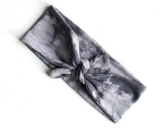 Tie Up Headscarf // Tie Dye Knotted Headband // Tie Die Hair Wrap // Tie Die Knotted Headscarf