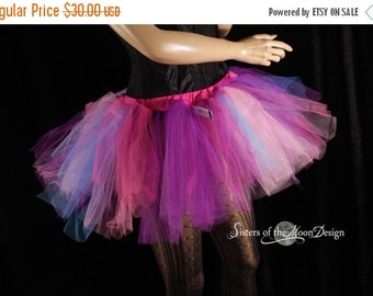 SALE Ready to ship adult tulle tutu skirt fairy pixie trashy dance costume party club rave race event dress up - Small - Sisters of the Moon