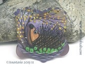 NOVEMBER NIGHT...handmade lampwork bead by Anastasia...SRA...ooak...