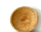Bowl Vintage Wooden Bowl Wood Rustic Primitive Farmhouse Cottage Mixing Bowl Bread Bowl