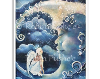 Angel and Man-in-the-Moon Print