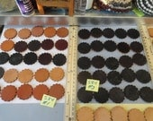 Choose your Thick Leather Scalloped Conchos 1 1/2 Inches, 37mm 25 pcs.  S 84