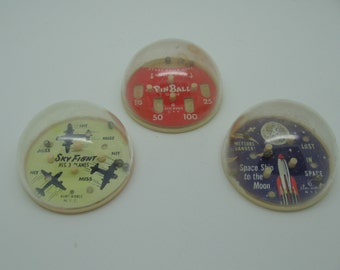 Set 3 Vintage Baby World Domed Dexterity Games