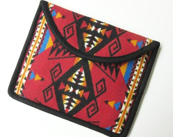 Wool iPad Cover Case iPad Sleeve Padded Scarlet Red Wool Southwest Print from Pendleton Oregon